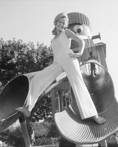 Farrah on a slide, shot by the great Harry Langdon. I am a very lucky man to have known Harry since I was a  little boy and even luckier to have have assisted Harry for many years at his Beverly Hills Studio. Harry taught me the secret of photography, making everyone in front of your lens feel adored, amazing and gorgeous.