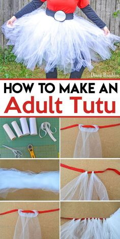 How to Make an Adult Tutu Tutorial - Want a tutu for a Halloween costume or party? Follow this easy Adult Tutu tutorial to make an inexpensive addition to your wardrobe.