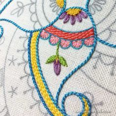 Embroidery Designs Jewelry the Embroidery Techniques other Crewel Embroidery Pat. Embroidery Designs Jewelry the Embroidery Techniques other Crewel Embroidery Patterns For Sale … Crewel Embroidery Kits, Embroidery Stitches Tutorial, Learn Embroidery, Hand Embroidery Patterns, Embroidery Techniques, Cross Stitch Embroidery, Machine Embroidery, Embroidery Supplies, Embroidery Thread