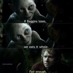 Riddles in the dark - The Hobbit Ain Unexpected Journey