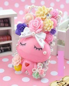 HANDMADE # etui iPhone 5S # MY LOVELY PINK RABBIT