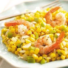 Herbed Shrimp Skillet Recipe -I love corn, especially in this dish. During summer, when I can use fresh corn instead of frozen, it's even better. Either way, it comes together very quickly.