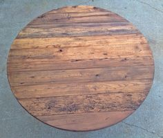This Is A 5u0027 Round Reclaimed Wood Table Made With Antique Barn Wood. We