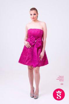101 - Vestido Curto Rosa