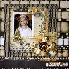 Kaisercraft Art of Life - You don't need special papers to scrap Christmas! Heritage Scrapbook Pages, Vintage Scrapbook, Scrapbook Journal, Scrapbook Page Layouts, Mixed Media Scrapbooking, Scrapbooking Ideas, Construction Images, Smash Book Pages, Picture Layouts