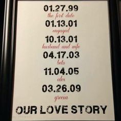 Remembering dates is so difficult! Frame your special dates and gift it to your loved one! #gift #ideas http://www.indiacakes.com/