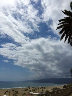 Big clouds over #SantaMonica Bay