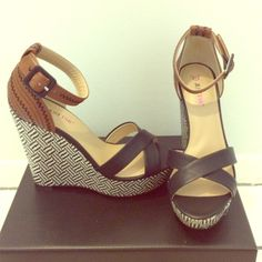 JustFab wedges **NEW!!!** Classic summer wedges to pair with your maxi dress, jean shorts, or even a cute skirt! JustFab Shoes