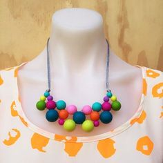 Cluster Necklace Silicone Necklace by JellyBeadsAustralia on Etsy
