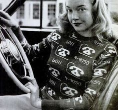 An adorable novelty sweater from the 1940s.