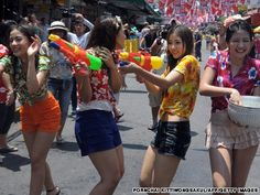 Gallery: Songkran rushes in with water fights, parties and old-school traditions Songkran Festival, Water Fight, Wet And Wild, Birthday Party Games, Getting Wet, Southeast Asia, Trip Planning, Bangkok, Travel Photos