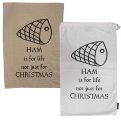 Ham is for life! ham bag & tea towel Christmas pack | hardtofind.