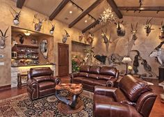 What more could a World Class Trophy Hunter want? The Trophy Room at Cordillera Ranch comes complete with a full wet bar. Texas Custom Home Builders