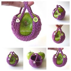 Have you seen this cozy apple? Love the purple with the apple green!