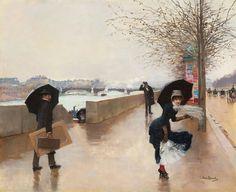 Jean Béraud (1849-1936), Le Vent.