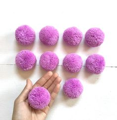 10 Lilac 2 Big Pom Pom Hmong hill tribe by moonshinecotton on Etsy