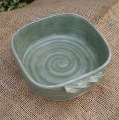 Serving dish bowl casserole bread baking hand thrown stoneware pottery ceramic