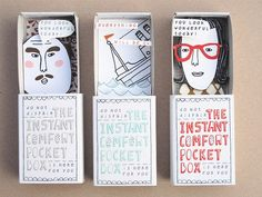 Could probably turn these into a DIY with matchboxes...birthday shout outs, congrats, etc. Love this idea.