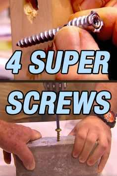 Once again, I'm truly amazed at the design and engineering that goes into a screw.  Here are four examples.
