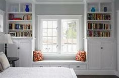 Craftsman interior, white. Bedroom built-in.
