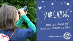 Stargazing With Kids - Free Fun Constellation Sewing Cards and Telescope Craft Kids Learning Activities, Preschool Science, Science For Kids, Science Activities, Educational Activities, Fun Learning, Space Preschool, Space Activities, Science Projects