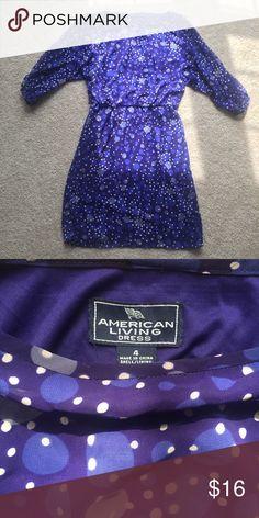 American Living Dress Blue and White Polkadot American Living Dress. In great condition. Size 4. American Living Dress Dresses