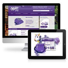 Milka - Konzeption, Entwicklung sowie Betreuung und Vermarktung des Online Shops für die Marke.