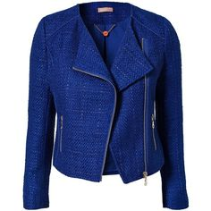 Awear Fit Zip Blazer (2 905 UAH) ❤ liked on Polyvore featuring outerwear, jackets, blazers, casacos, coats, coats & jackets, blue, womens-fashion, zipper jacket and zip front blazer