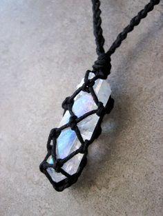 Angel Aura Quartz collier bijoux en cristal collier par HighonHemp
