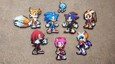 Sonic & Co. - Sonic the Hedgehog Perler Bead Sprites