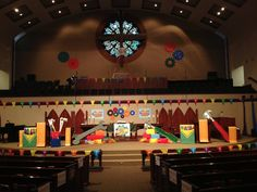 What a stage! Lovely! FUMC Coppell, TX  www.cokesburyvbs.com