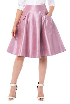 Discover our range of womens skirts at eShakti. We have Short, Pleated, Embellished, Pencil, Long Skirts and more. Sexy Skirt, Dress Skirt, Wedding Dress With Pockets, Dress Pockets, Modest Skirts, Outfit Trends, Swing Skirt, African Fashion Dresses, Stripe Skirt