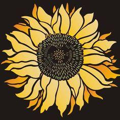 Sunflower Stencil Sunflower Head design
