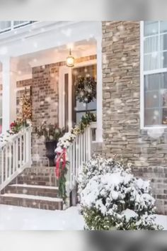 ☃❄ 55 Magical Christmas Front Porch Ideas Decked With Holiday Style By Y. Merry Christmas Gif, Christmas Scenery, Winter Scenery, Christmas Porch, Magical Christmas, Christmas Wishes, Christmas Pictures, Beautiful Christmas, Winter Christmas