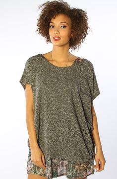 The Turner S/S Top in Heather CharcoalGray S