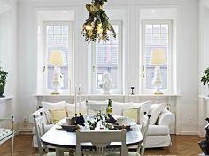 fabulous white kitchen & dining room