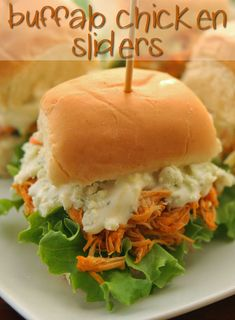 Let These Buffalo Chicken Sliders Roll Right Into Your Stomach