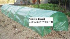 """Garden Tunnel 10' Guard Poly Row Cover Harvest by EarthCare Greenhouses. Save 47 Off!. $36.99. Protects young plants and seedlings from frost and pests. Enables Early and Late planting - Poly is clear with a green reinforcing web. Plants get full sun.. Manufactured from tough UV Stabilized Clear Poly - Plant Protector. Measures 118"""" Long x 25"""" Wide x 17"""" High. Easy and Quick Set up over your garden rows. Easy and Quick way to protect seedlings and young plants in your garden from frost…"""