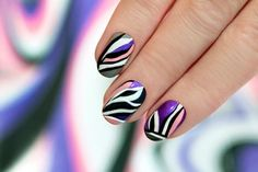 Nail Art For Beginners - Wavy Manicure