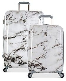 Heys Bianco Stone-Print Ha... Luggage Sets Cute, Teen Luggage, 3 Piece Luggage Set, Best Carry On Luggage, Luggage Cover, Travel Luggage, Cheap Luggage Sets, Travel Bags, Luggage Brands