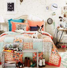 cute! colorful bedroom #decor #bedroom