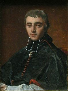 Louis-Jacques-Maurice de Bonald (1787–1870), homme d'Église français, archevêque de Lyon de 1839 à 1870, peint par Ingres à Rome au mois de mai en 1816.