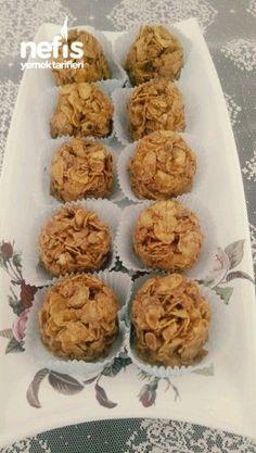 Kozalak Dessert Kitchen Decor - Home creative ideas Yami Yami, Cookie Desserts, Desert Recipes, Feta, Biscuits, Kitchen Decor, Almond, Deserts, Muffin