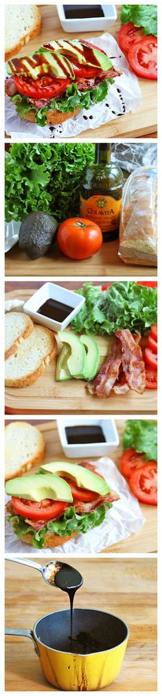 A BLT with avocado AND a drizzle of sweet-tangy balsamic reduction? Yes, please!