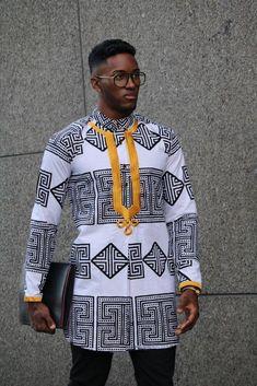 Dashiki Caftan for Men African Attire For Men, African Clothing For Men, African Shirts, African Wear, African Dress, African Wedding Attire, Nigerian Men Fashion, African Print Fashion, African Fashion Dresses