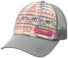 wholesale dealer 33869 b5938 Roxy Women s Truckin Sunset Bay Trucker Hat, Cool Grey, One Size - http