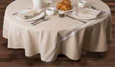 3. DII 100% Cotton French Stripe Kitchen Tablecloth