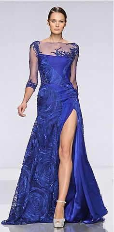 Tony Ward evening periwinkle blue dress. http://www.missKrizia.com