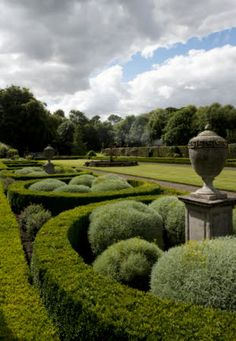 The Parterre Garden at Seaton Delaval Hall, Northumberland England