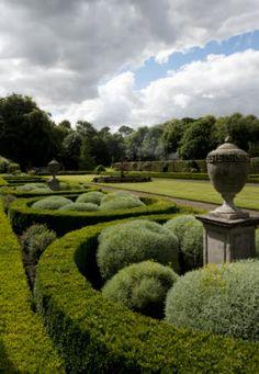 Garden Design Ideas : The Parterre Garden at Seaton Delaval Hall, Northumberland England… Landscape Architecture, Landscape Design, Garden Design, Formal Gardens, Outdoor Gardens, Pergola, Topiary Garden, Topiaries, Parks